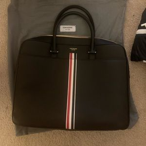 Thom Browne leather briefcase